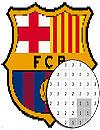 waptrick.com Football Logo Club Color By Number Pixel Art